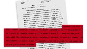 Finnish Security Intelligence Service document, Finnish National Archive