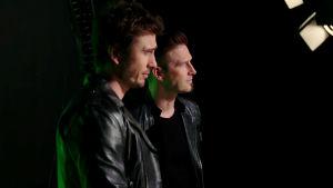 Ville Virtanen (Darude) ja Sebastian Rejman UMK19-kappaleen Look Away musiikkivideon kuvauksissa