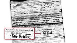 Felix Kerstenin Heil Hitler -allekirjoitus.