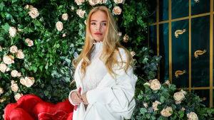 Elizaveta Peskova fotograferad i Moskva den 27 december 2018.