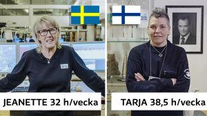 Jeanette och Tarja jobbar på nödcentral