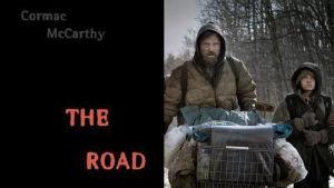 Kuvassa Tie - The Road -kirjan kansi sekä kuva samannimisestä elokuvasta.