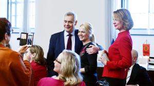 SDP:s ordförande Antti Rinne återvänder från sjukledigheten.