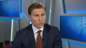 Justitieminister Antti Häkkänen (Saml).