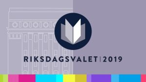 Yles logo för riksdagsvalet 2019