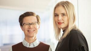 Sami Sykkö ja Marja Kihlström poikkeavat pituuksiltaan keskiverto suomalaisista.