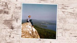 Pekka Haavisto Kolin huipulla kesällä 1972