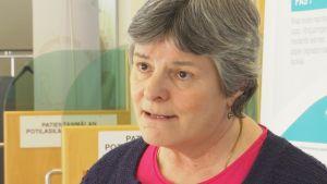 Sjukhusdirektör Gabriela Erroll på Raseborgs sjukhus