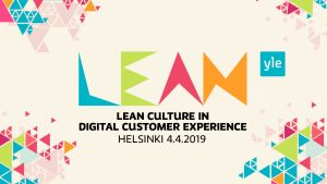 Lean Culture in Digital Customer Experience 2019