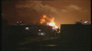 Cistern som brann i Sköldvik påsken 1989
