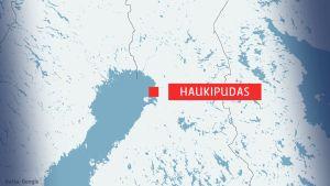 Karta på Haukipudas.