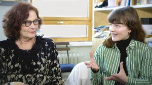 Ebba Witt-Brattström och Vilhelmina Öhman