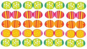 Pikku Kakkosen tulostettavat pääsiäiskoristeet, munat