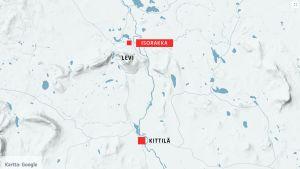 Karta över Kittilä.