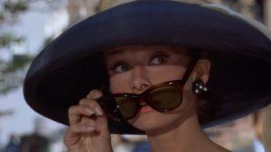 Filmstjärnan Audrey Hepburn i fiulmen Breakfast at Tiffany´s