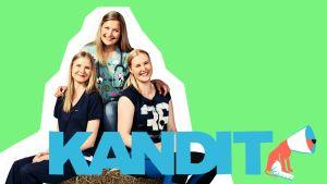 Kandit-sarjan nuoret eläinlääkärikandit Kia, Karoliina ja Sari