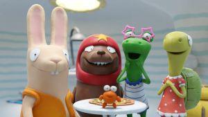 Oiva-vesinokkaeläin ystäviensä kanssa