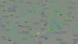 Flygrutt för plan som nödlandade i Moskva