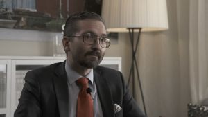 SFP:s partisekreterare Fredrik Guseff.