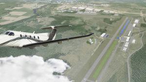 Skiss över flygplatsen i Pyttis
