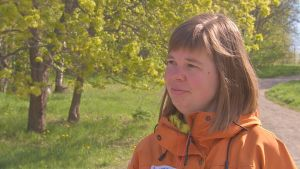 Emilia Nordling, naturskollärare vid Åbolands naturskola.