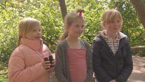 Fågelskådande barn från Cygnaeus skola i Åbo