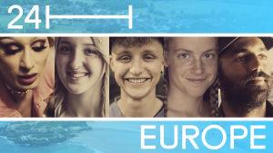 Kollaasi 24 tuntia Euroopassa -ohjelmassa esiintyvistä henkilöistä