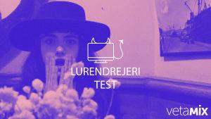 En bild med texten;Lurendrejeri test.