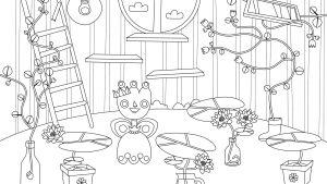 Pikku Kakkosen Eskari värityskuva kukan huone