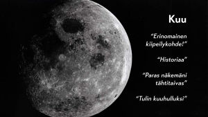 Kuu ja tekstejä