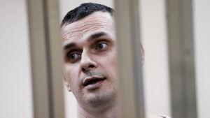 Oleg Sentsov under rättegången i Ryssland 2015.