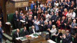 Det brittiska parlamentets paus inleddes i måndags och fortsätter till den 14 oktober.