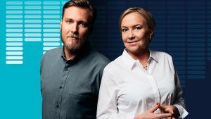 Johannes Tabermann och Carin Göthelid är Nyhetspoddens programledare.
