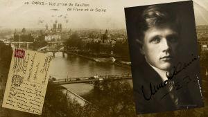 Uuno Klami ja postikortti Pariisista 1924-1925.