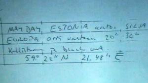Mayday från m/s Estonia till Silja Europa, 1994