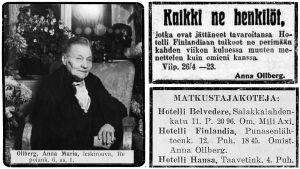 Anna Ollberg joskus 1930-luvulla.