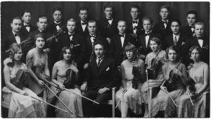 Viipurin Musiikkiopiston kamariorkesteri 1928.