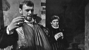 Leif Wager och Algot Böstman i filmen Daniel Hjort, 1962
