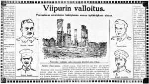 Ote lehtijutusta Viipurin valloitus.