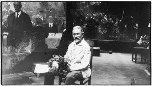 Taidemaalari Ilja Repin kotonaan Kuokkalassa 85-vuotissyntymäpäivänään 1929.