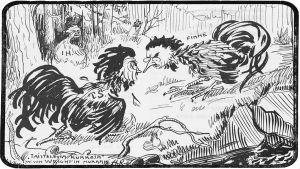 Aarno Karimon piirros Ampiaisessa 29.11.1913.