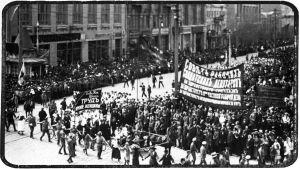 Venäjän vallankumous Pietarissa 1917.
