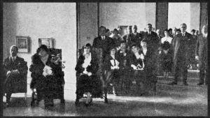Viipurin Taideviikon avajaiset Helsingissä helmikuussa 1934.