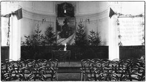 Viipurin Keskuskansakoulun juhlasali 1920.