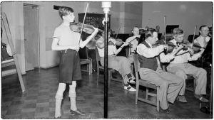 Heimo Haitto Radio-orkesterin solistina keväällä 1939.