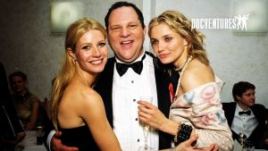 Harvey weinstein kahden naisnäyttelijän ympäröimänä.