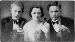 Viipurilainen trio Salmela 1930-luvun alussa.