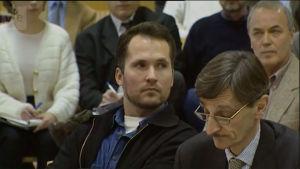 Steen Christensen ja Aarno Arvela oikeudenkäynnissä