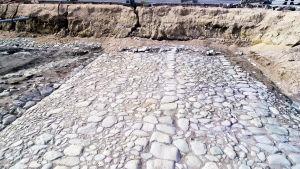 arkeologiska utgrävningar i Åbo, torget, gata