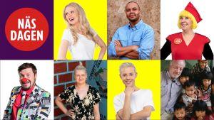 flera ansikten som är med i år 2019:s näsdagsjippon
